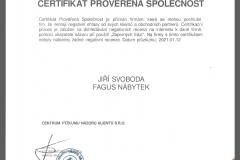 Certifikáty a osvědčení